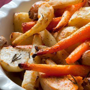 Recettes de légumes d'automne rôtis