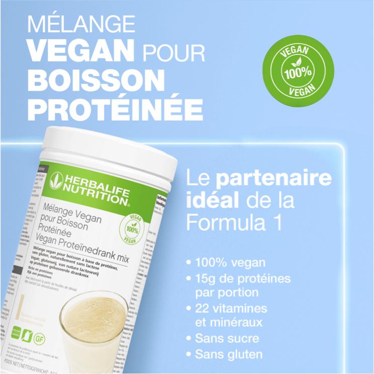 Mélange Vegan pour Boisson Protéinée Saveur Vanille